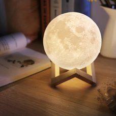 מנורת לילה ירח מלא