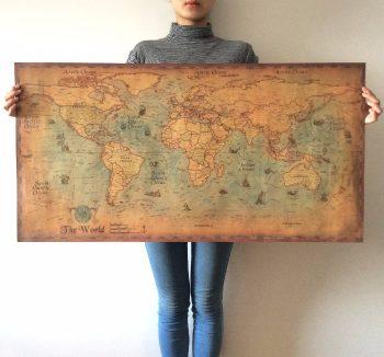 פוסטר מפת העולם